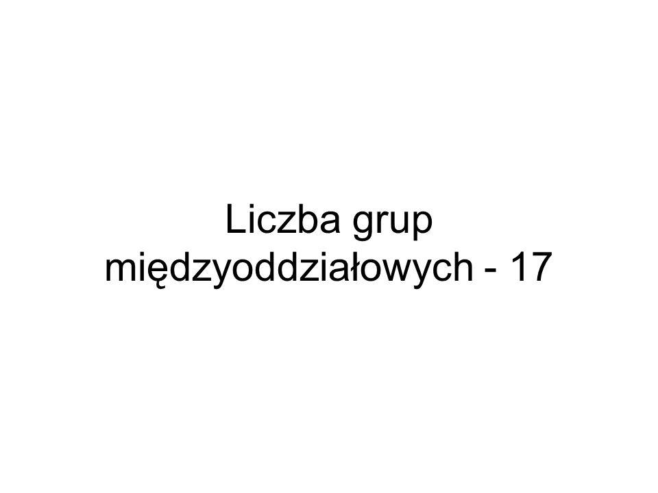 Liczba grup międzyoddziałowych - 17
