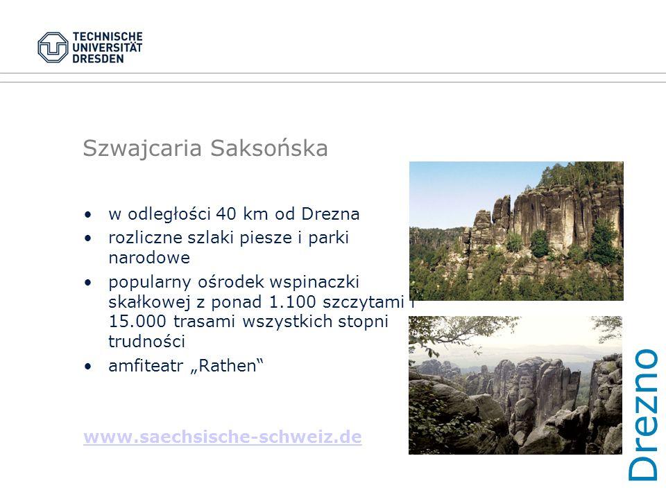 """Szwajcaria Saksońska w odległości 40 km od Drezna rozliczne szlaki piesze i parki narodowe popularny ośrodek wspinaczki skałkowej z ponad 1.100 szczytami i 15.000 trasami wszystkich stopni trudności amfiteatr """"Rathen www.saechsische-schweiz.de Dre zno"""