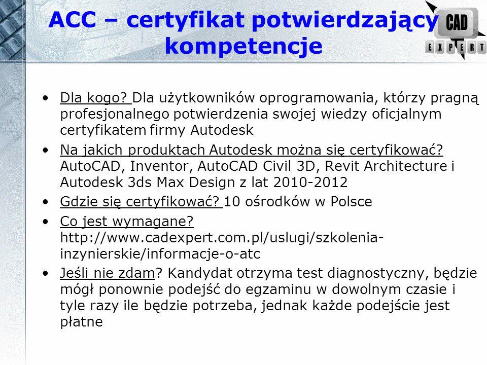ACC – certyfikat potwierdzający kompetencje Jaką ważność ma certyfikat.