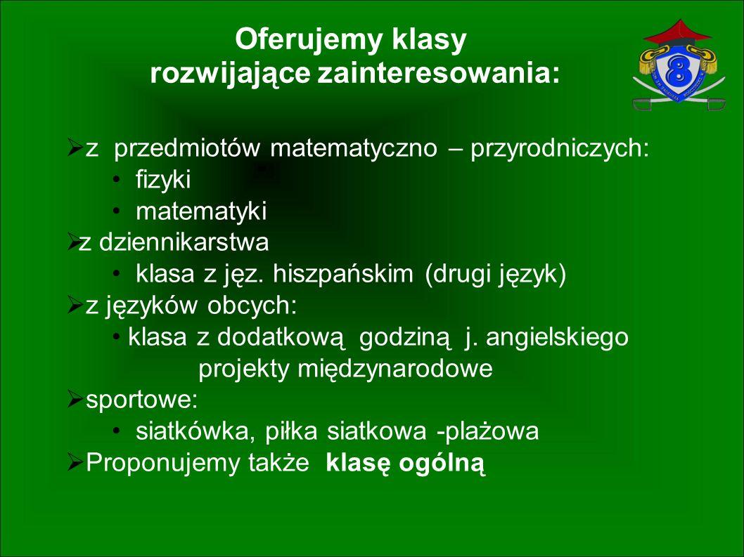 Gimnazjum nr 8 im. Tadeusza Kościuszki 91-022 Łódź ul.