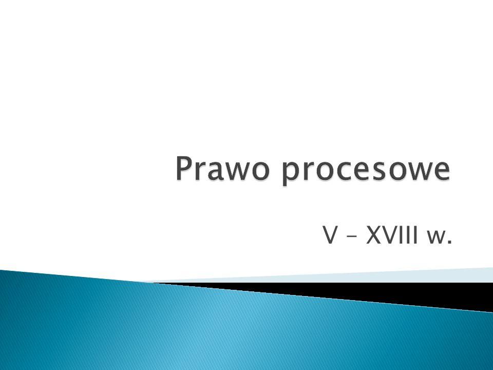 V – XVIII w.