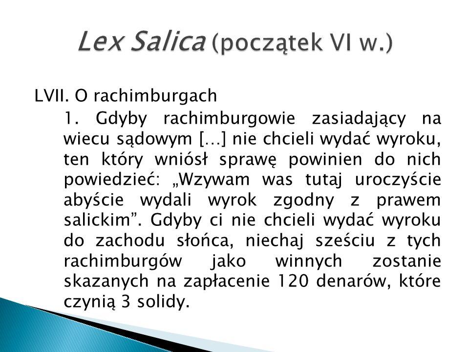 LVII. O rachimburgach 1.