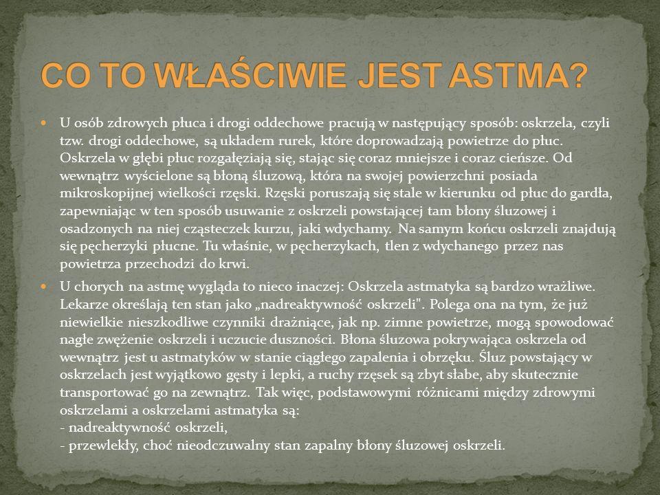 Astma jest w większości przypadków chorobą często nawracającą i trwającą całe życie.