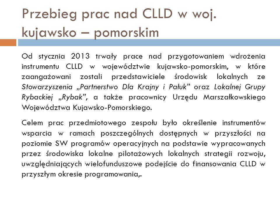 Przebieg prac nad CLLD w woj.