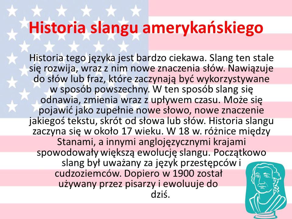 Historia slangu amerykańskiego Historia tego języka jest bardzo ciekawa.