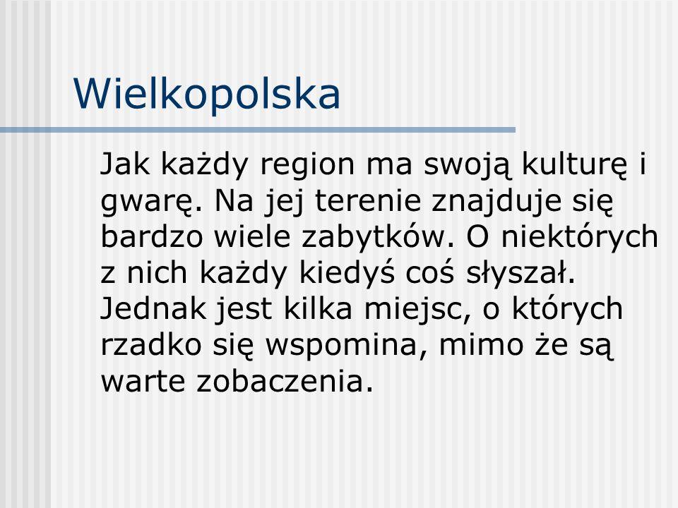 Wielkopolska Jak każdy region ma swoją kulturę i gwarę.