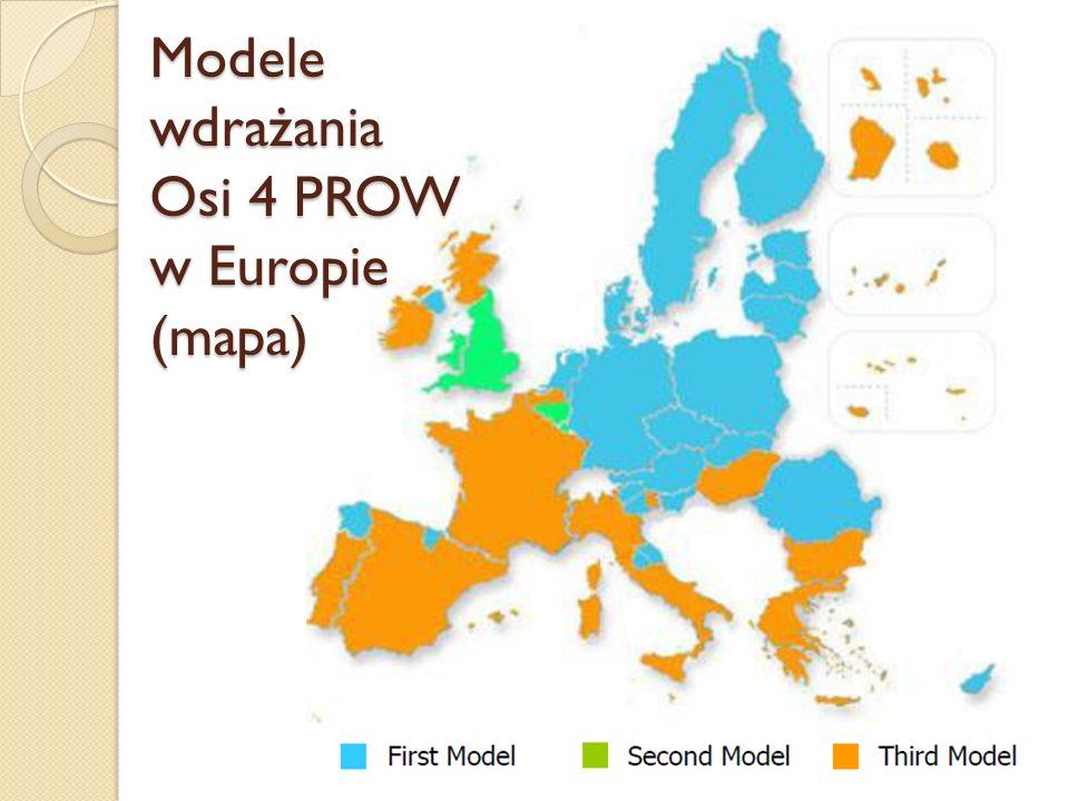 Modele wdrażania Osi 4 PROW w Europie (mapa)