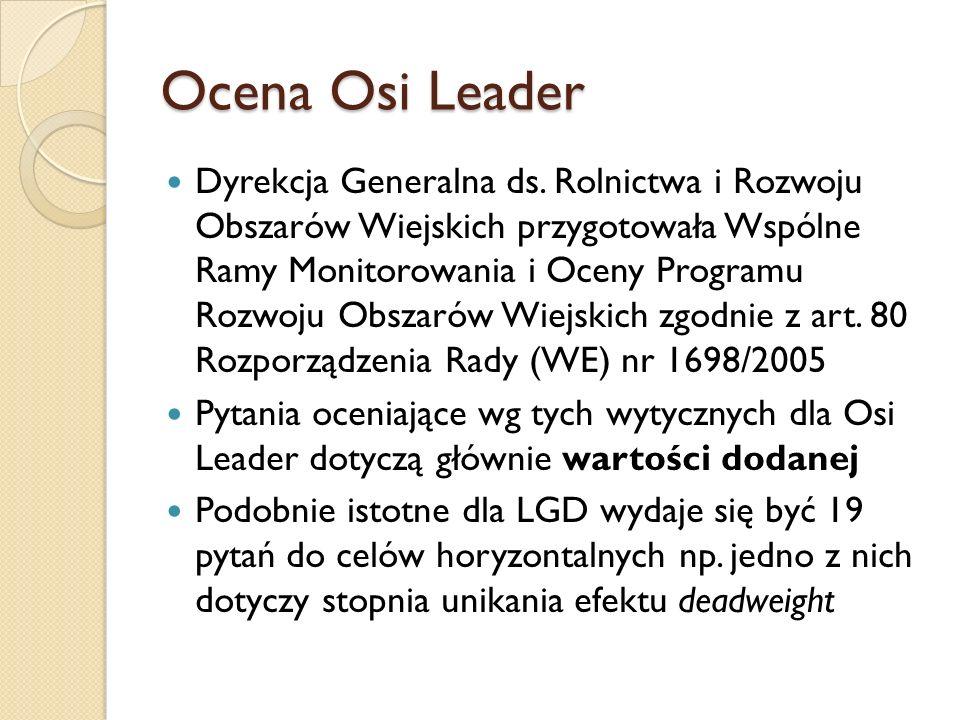 Ocena Osi Leader Dyrekcja Generalna ds.