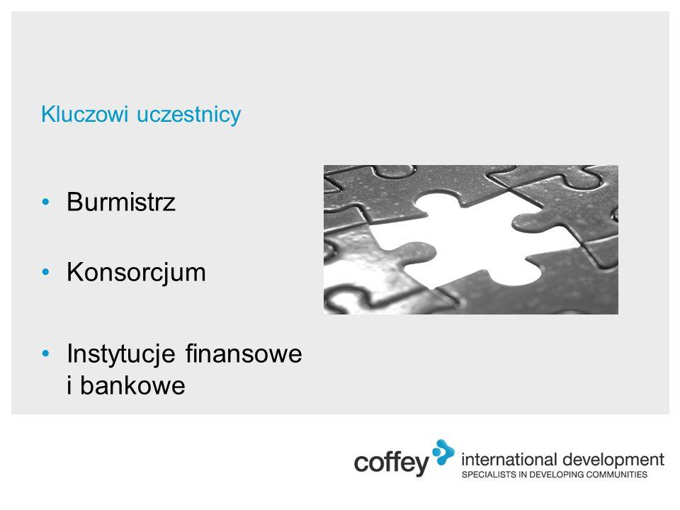Kluczowi uczestnicy Burmistrz Konsorcjum Instytucje finansowe i bankowe