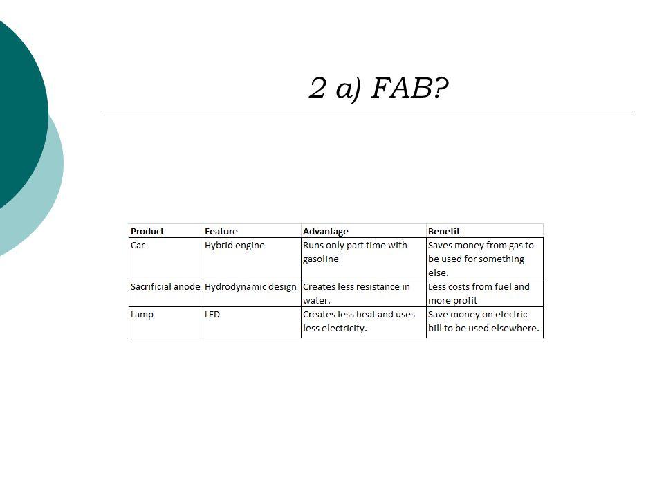 2 a) FAB?