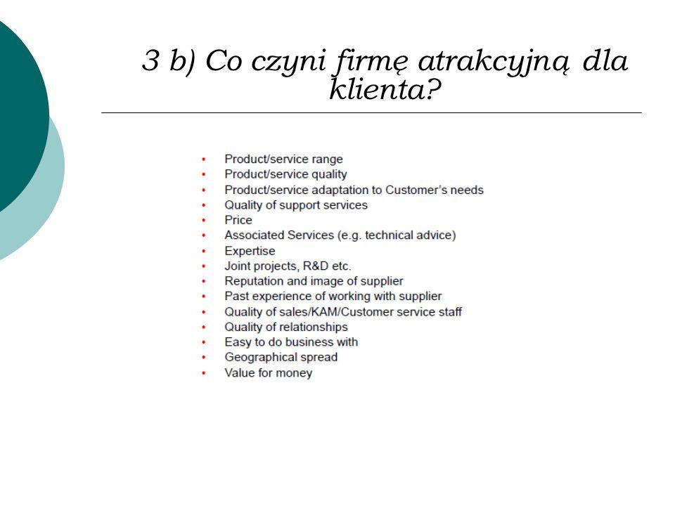 3 b) Co czyni firmę atrakcyjną dla klienta?