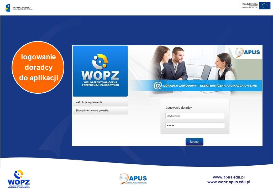 www.apus.edu.pl www.wopz.apus.edu.pl logowanie doradcy do aplikacji