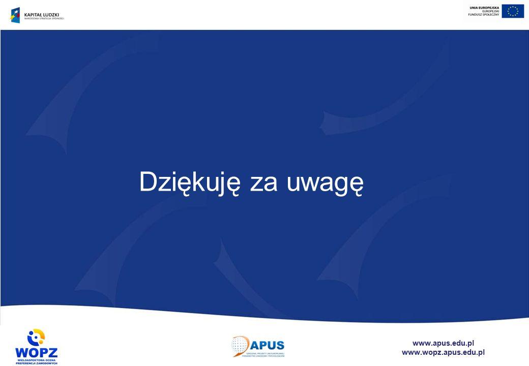 www.apus.edu.pl www.wopz.apus.edu.pl Dziękuję za uwagę