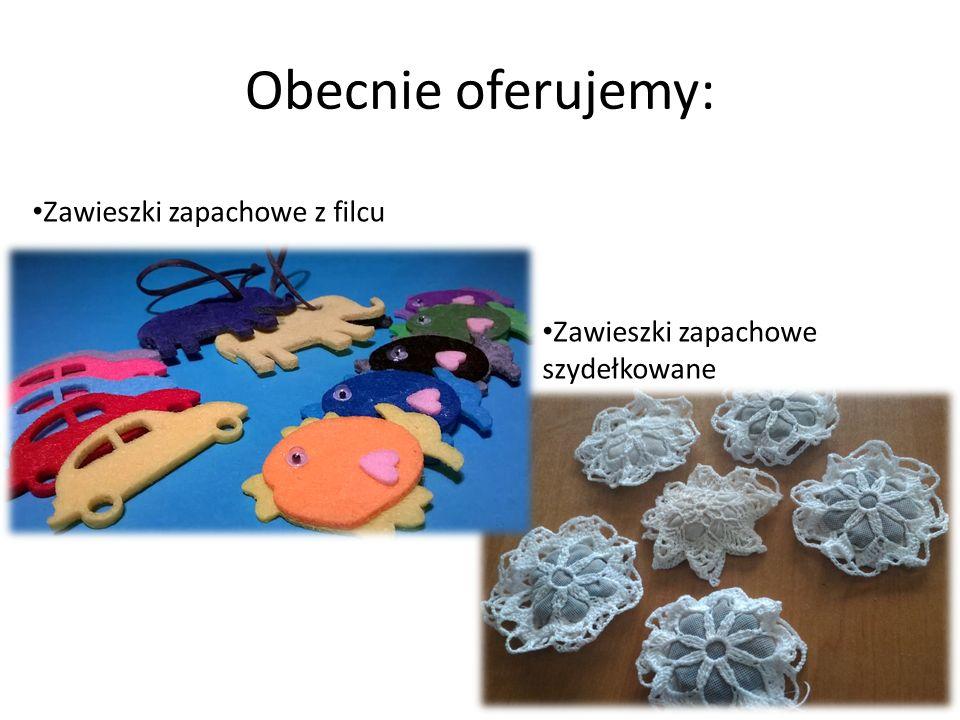 Obecnie oferujemy: Zawieszki zapachowe z filcu Zawieszki zapachowe szydełkowane