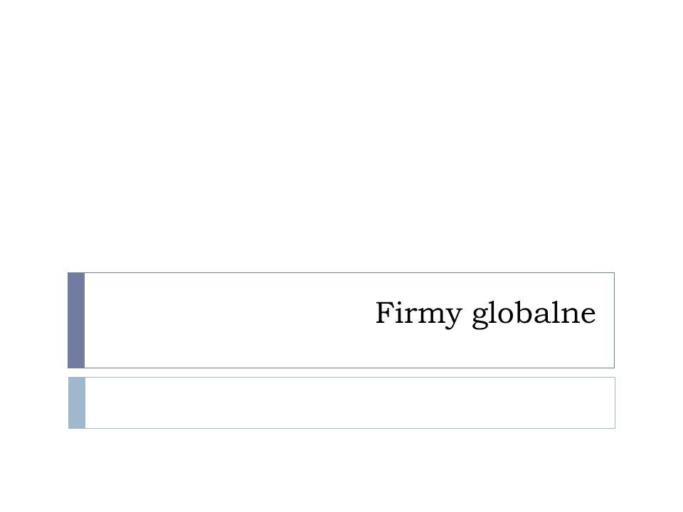 Firmy globalne