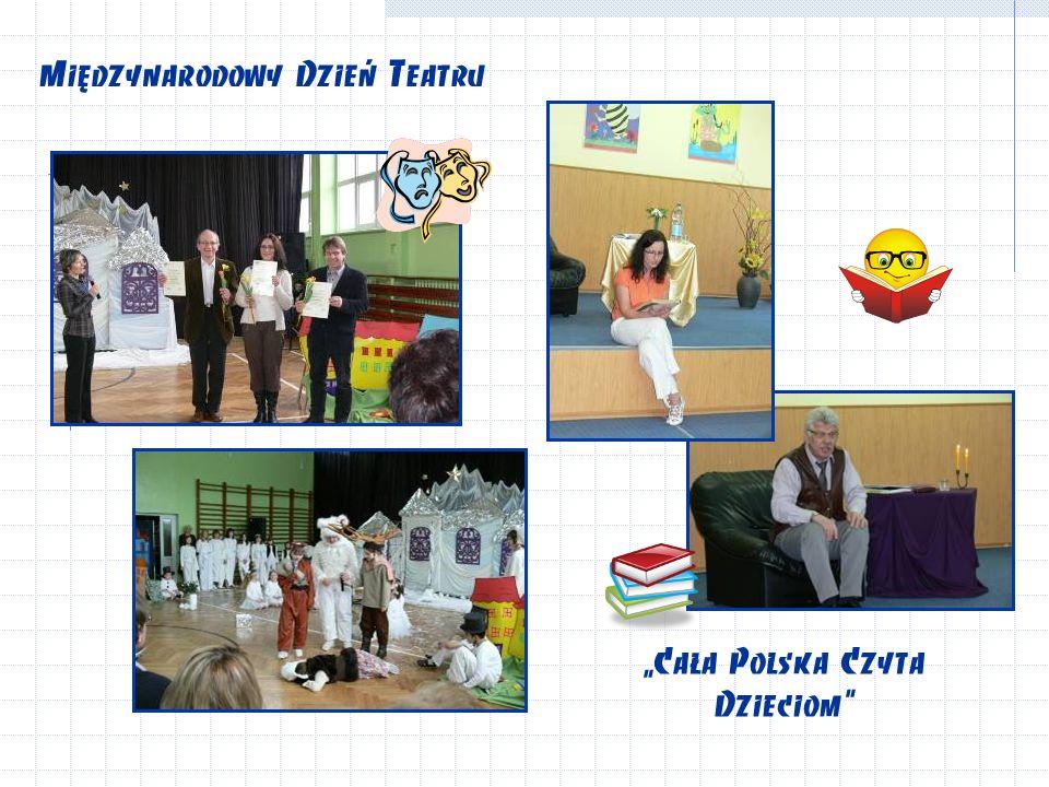 """Międzynarodowy Dzień Teatru """"Cała Polska Czyta Dzieciom"""