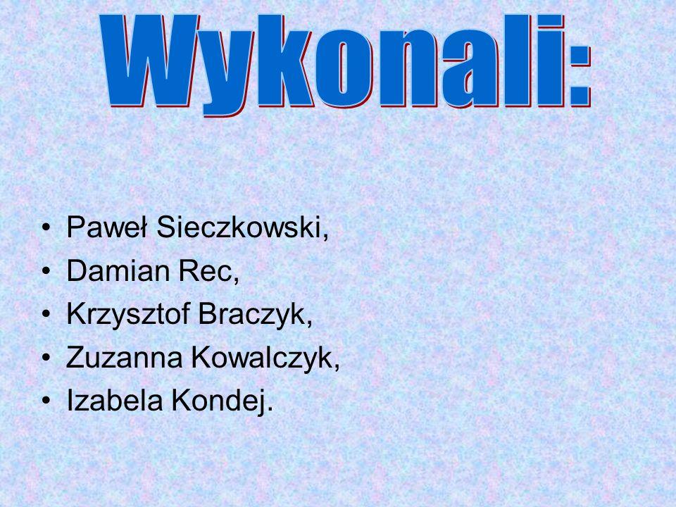 Paweł Sieczkowski, Damian Rec, Krzysztof Braczyk, Zuzanna Kowalczyk, Izabela Kondej.