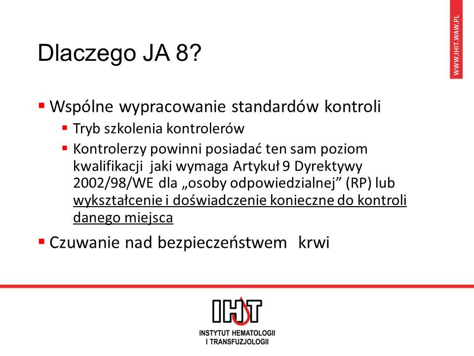 European Blood Inspection System (EuBIS) Pan –europejskie standardy i kryteria dla kontroli wewnętrznych Dyrektywy: 2002/98/WE, 2004/33/WE, 2005/61/WE, 2005/62/WE, 98/79/WE z 27 października 1998 r.