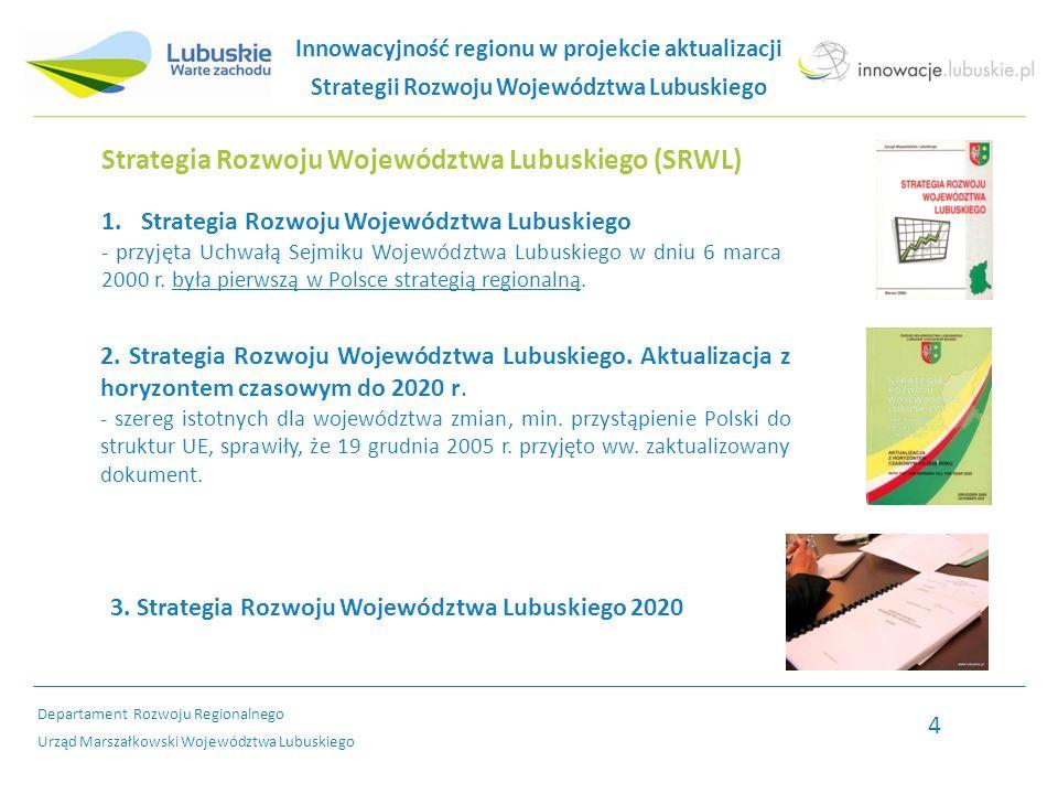 Departament Rozwoju Regionalnego Urząd Marszałkowski Województwa Lubuskiego Innowacje w SRWL - wysokosprawne systemy Stworzenie na terenie województwa wysokosprawnych systemów: - zapewniających bezpieczeństwo energetyczne, - które optymalnie wykorzystują surowce oraz infrastrukturę, aby bezawaryjnie zaopatrywać mieszkańców i podmioty gospodarcze w energię elektryczną, ciepło, gaz ziemny i paliwa, - z zastosowaniem rozwiązań energooszczędnych w gospodarce i budownictwie, pozwalających na ograniczenie zużycia energii i obniżenie wielkości emisji substancji zanieczyszczających do powietrza.