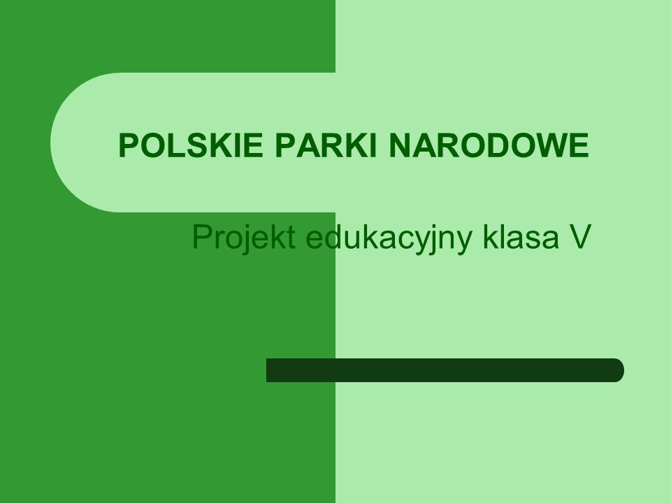 POLSKIE PARKI NARODOWE Projekt edukacyjny klasa V
