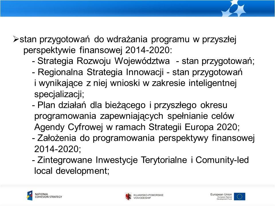 Zestawienie projektów kluczowych, dla których wnioski o dofinansowanie nie zostały złożone do dnia 31.12.2012 r.
