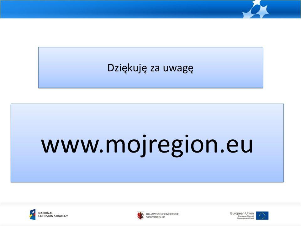 mojregion.eu Dziękuję za uwagę www.mojregion.eu