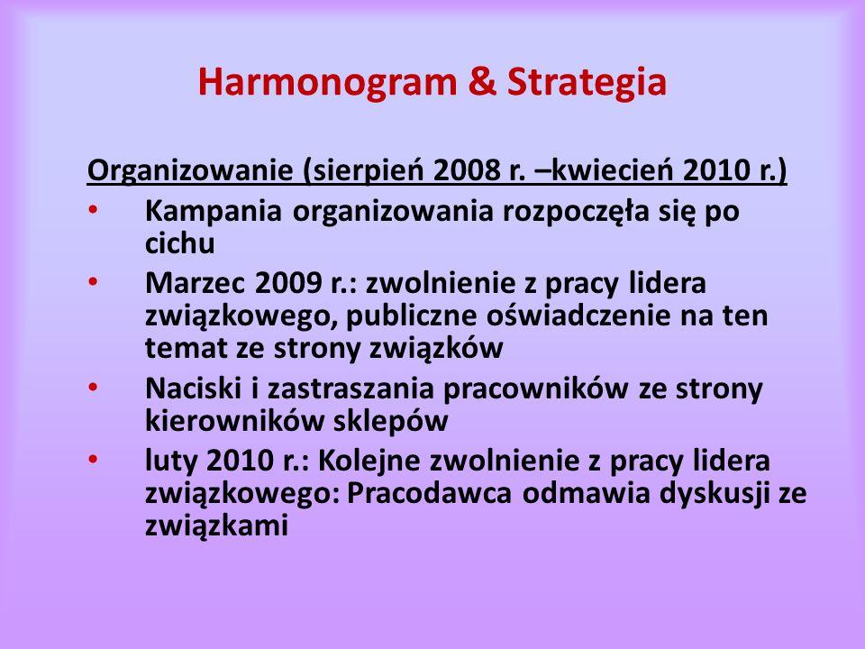 Harmonogram & Strategia Organizowanie (sierpień 2008 r.