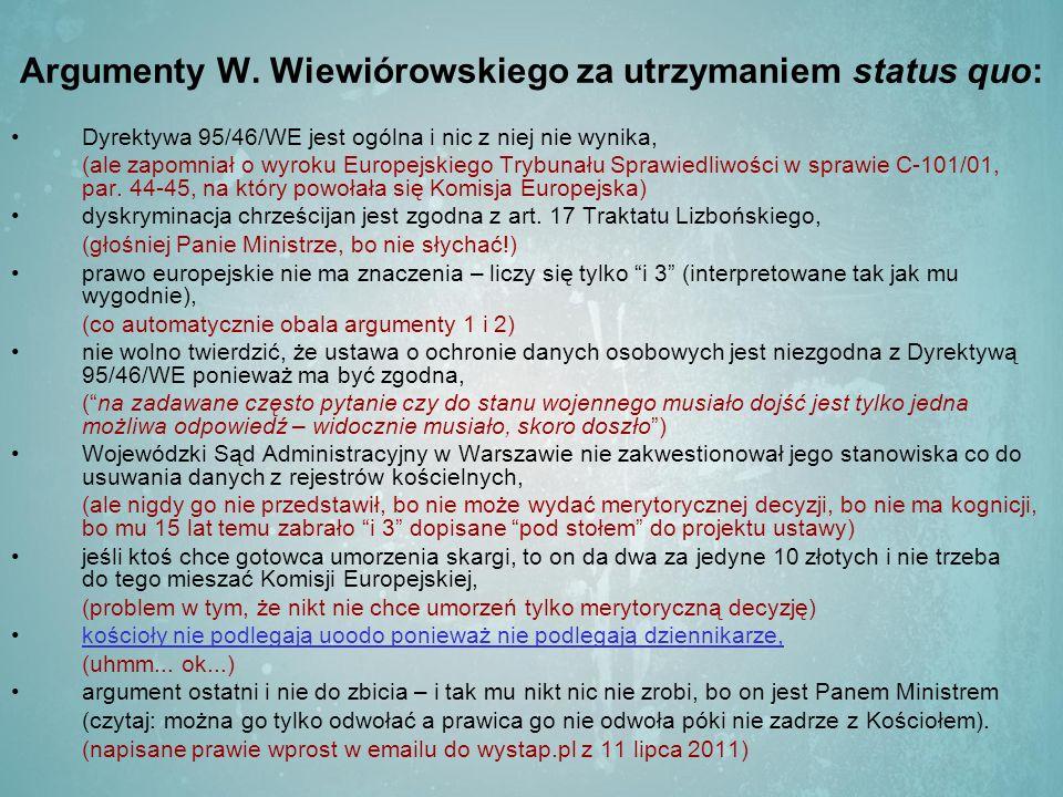 Argumenty W.