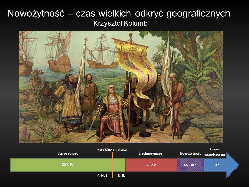 Nowożytność – czas wielkich odkryć geograficznych Krzysztof Kolumb