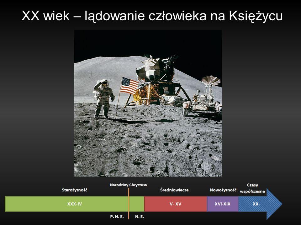 XX wiek – lądowanie człowieka na Księżycu