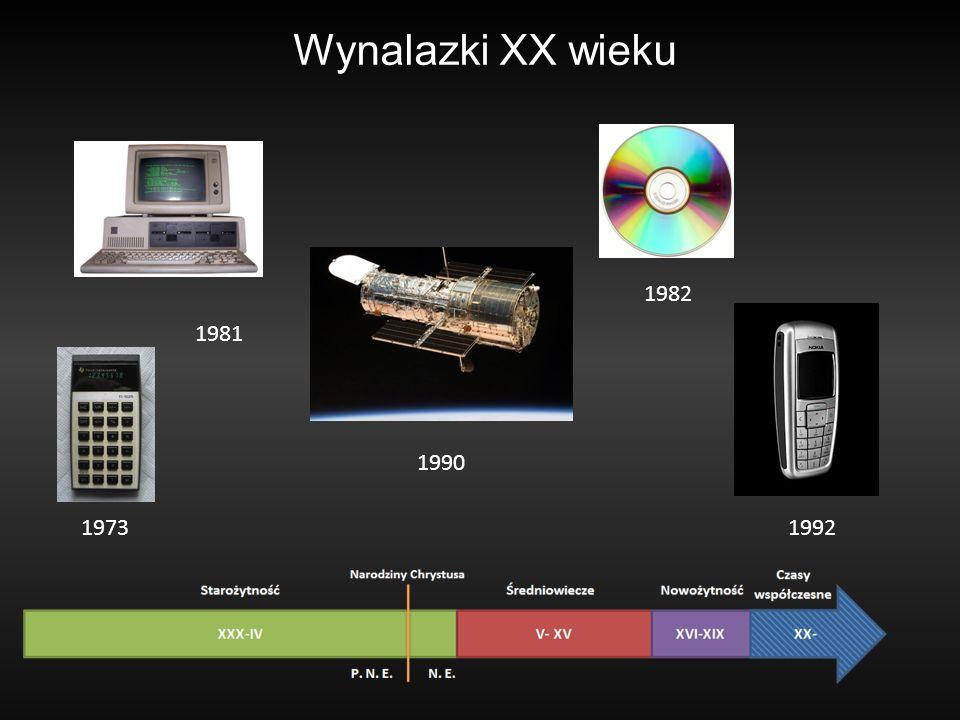 Wynalazki XX wieku 1981 1990 1973 1982 1992