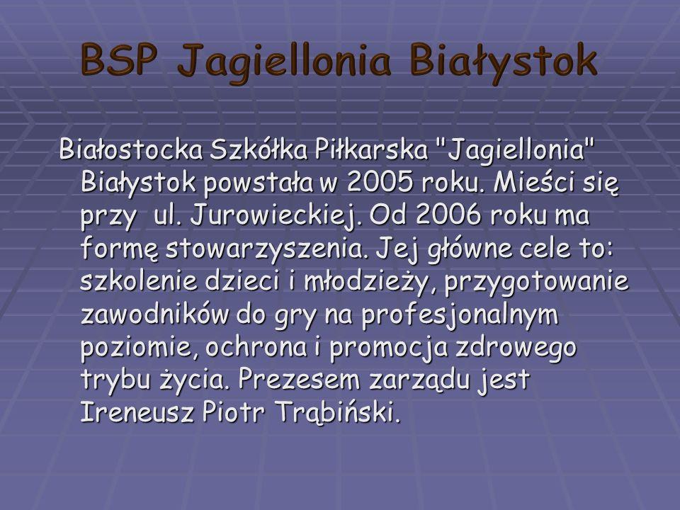 Białostocka Szkółka Piłkarska Jagiellonia Białystok powstała w 2005 roku.