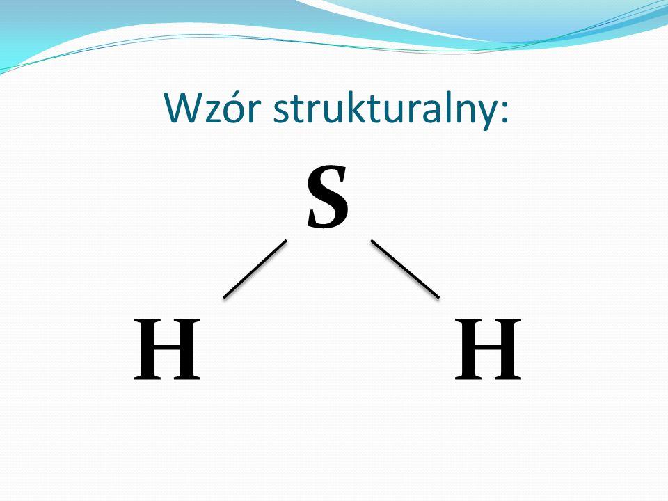 Wzór strukturalny: S HH