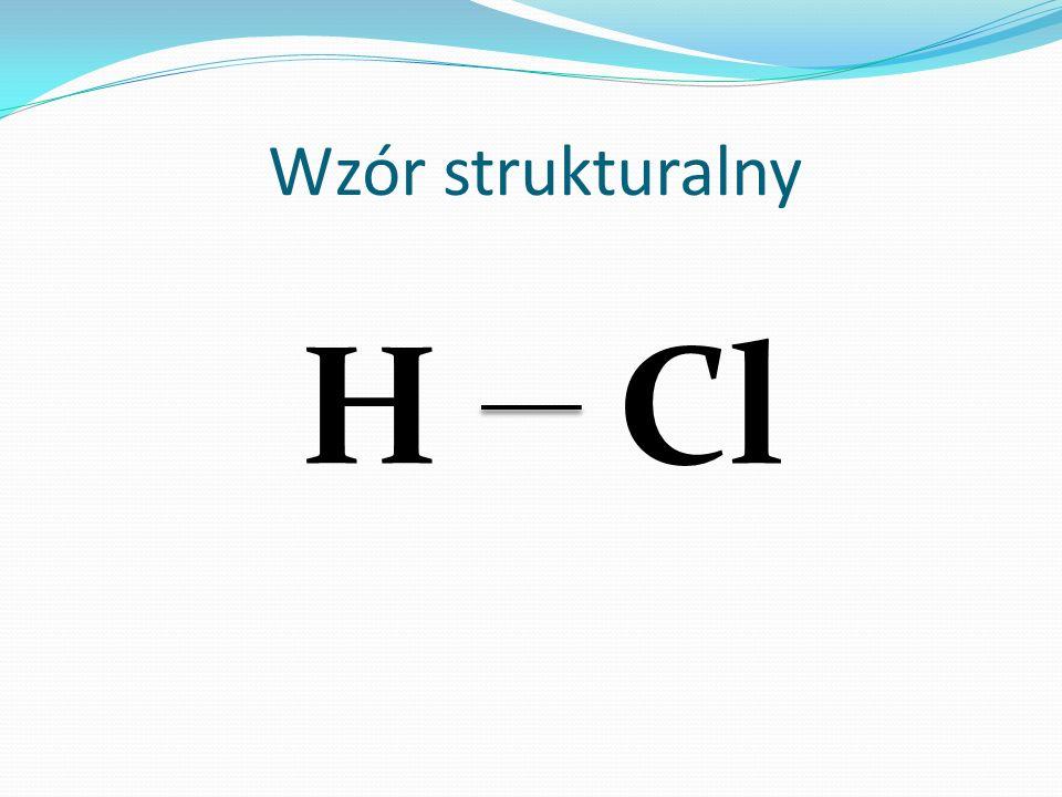 Wzór strukturalny HCl