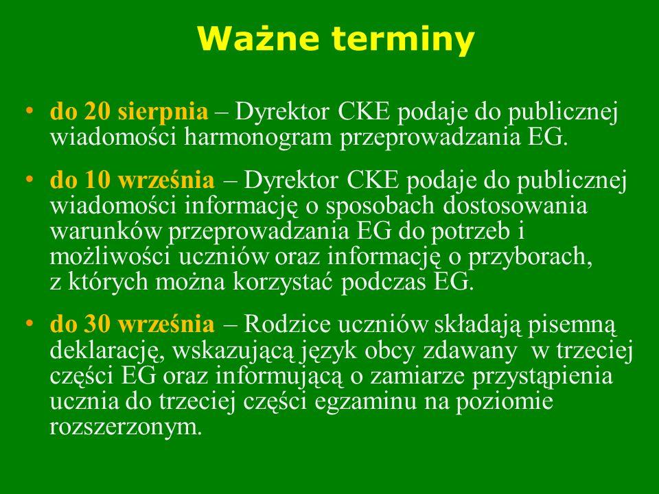 Ważne terminy do 20 sierpnia – Dyrektor CKE podaje do publicznej wiadomości harmonogram przeprowadzania EG.