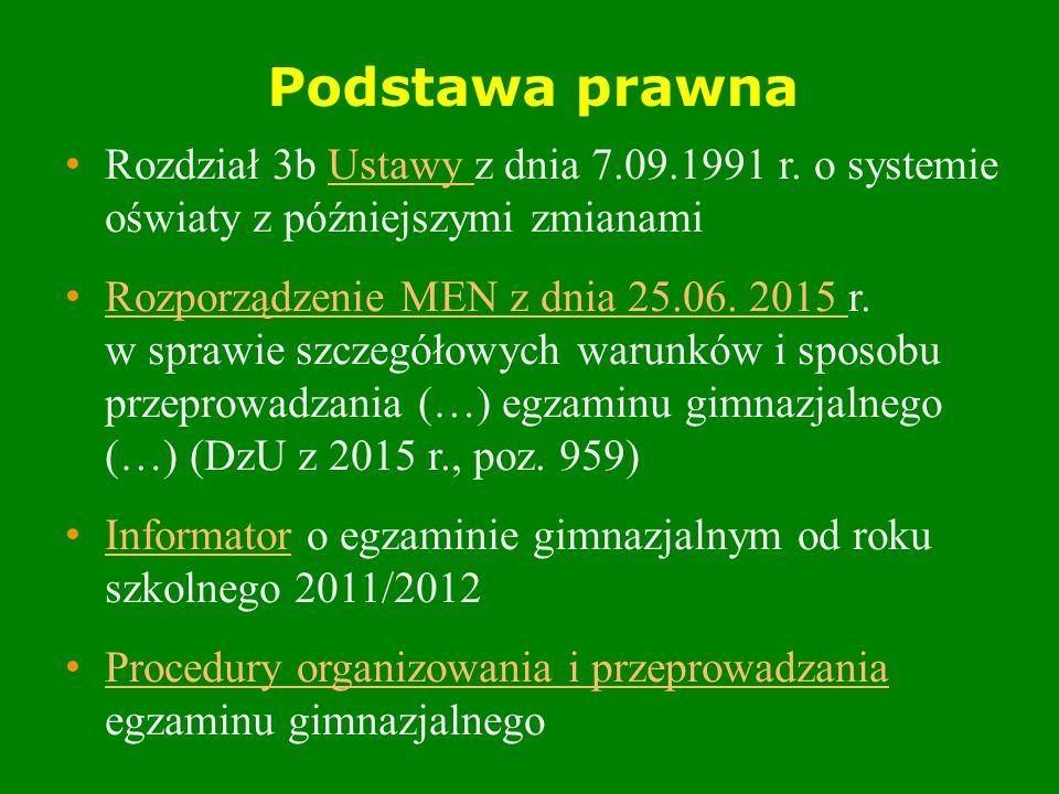 Podstawa prawna Rozdział 3b Ustawy z dnia 7.09.1991 r.