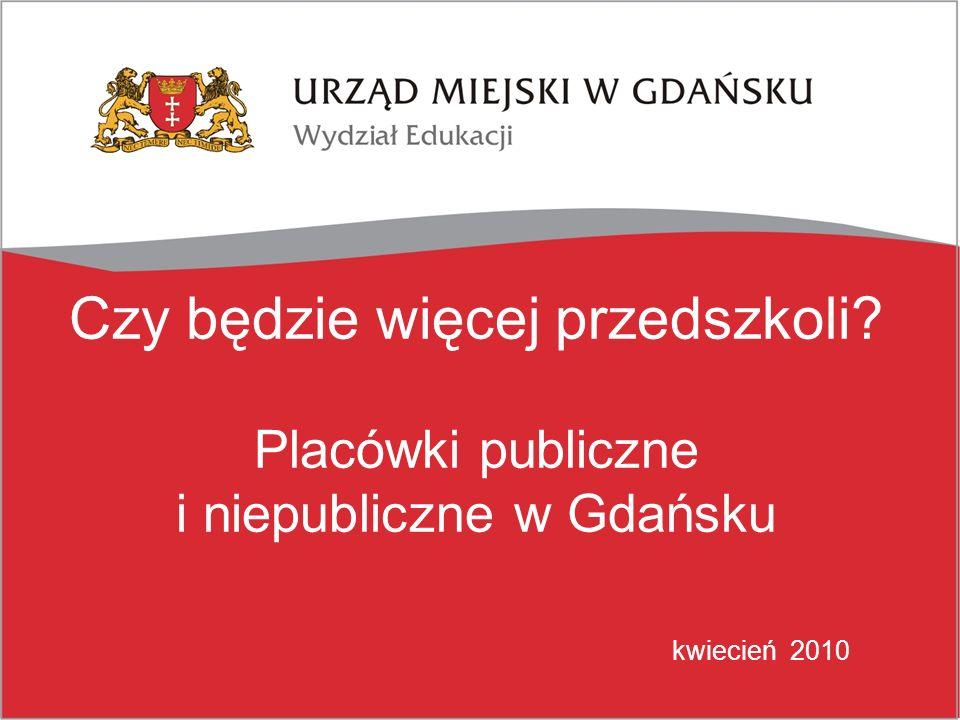 Czy będzie więcej przedszkoli? Placówki publiczne i niepubliczne w Gdańsku kwiecień 2010
