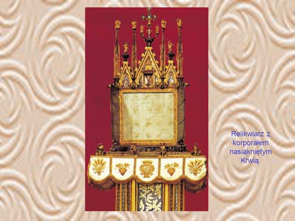 Kiedy wydarzył się opisywany cud, w pobliskim Orvieto przebywał właśnie papież Urban IV. Czym prędzej posłał on do Bolseny swoich teologów, którzy pot