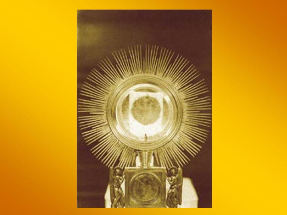 O Jezu w Hostii utajony, Serce moje Cię czuje, Chociaż kryją Cię zasłony, Ty wiesz, że Cię miłuję, miłuję.