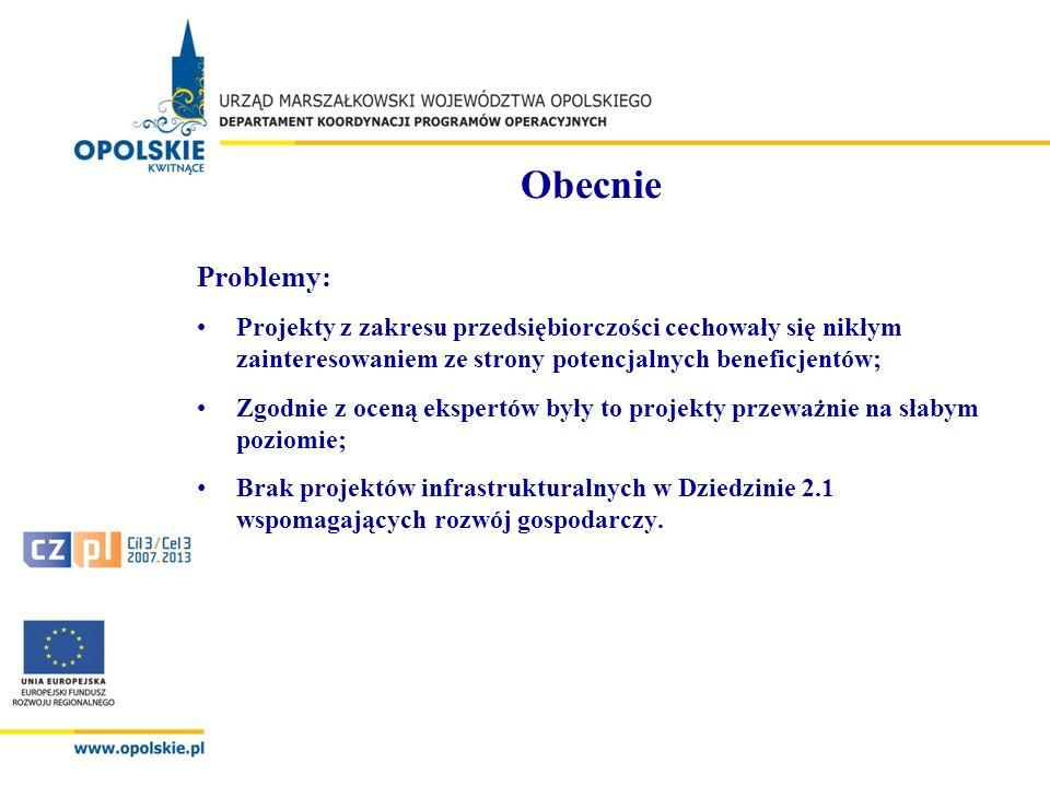Przyszłość o MŚP Mając na uwadze doświadczenie Samorządu Województwa Opolskiego we wdrażaniu Regionalnego Programu Operacyjnego Województwa Opolskiego na lata 2007-2013 w zakresie obszaru przedsiębiorczość należy rozważyć poszerzenie katalogu potencjalnych beneficjentów wsparcia o MŚP.