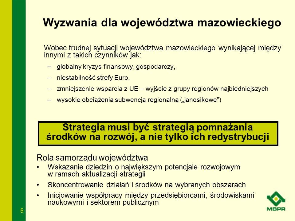 5 Wobec trudnej sytuacji województwa mazowieckiego wynikającej między innymi z takich czynników jak: –globalny kryzys finansowy, gospodarczy, –niestab
