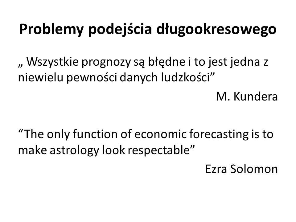 """Problemy podejścia długookresowego """" Wszystkie prognozy są błędne i to jest jedna z niewielu pewności danych ludzkości M."""
