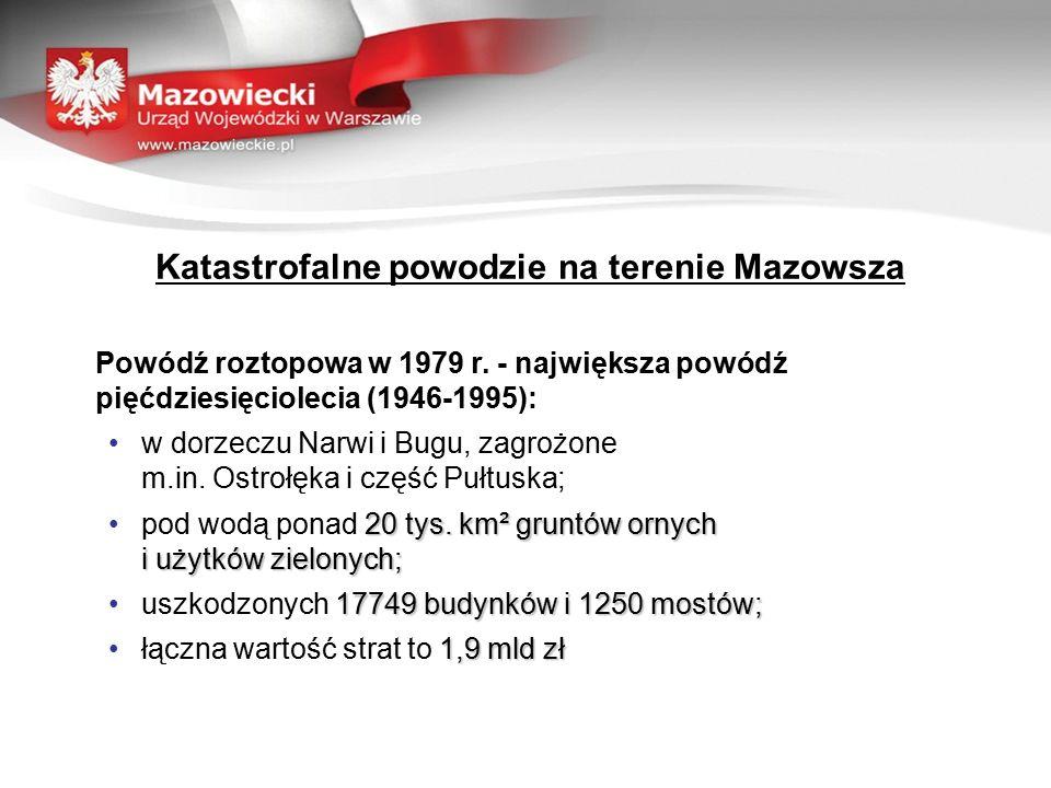Katastrofalne powodzie na terenie Mazowsza Powódź roztopowa w 1979 r.