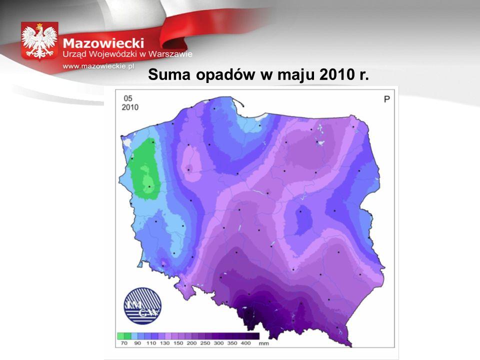 Suma opadów w maju 2010 r.