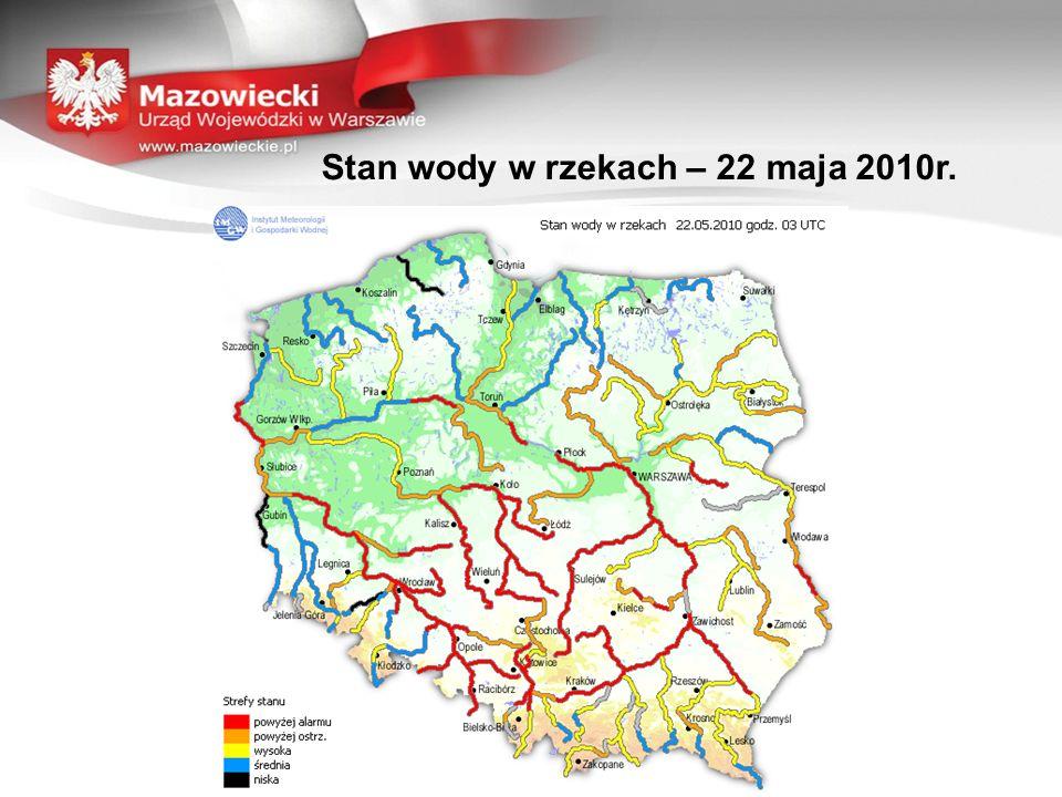 Stan wody w rzekach – 22 maja 2010r.
