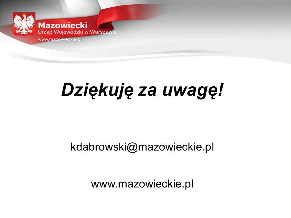 Dziękuję za uwagę! kdabrowski@mazowieckie.pl www.mazowieckie.pl