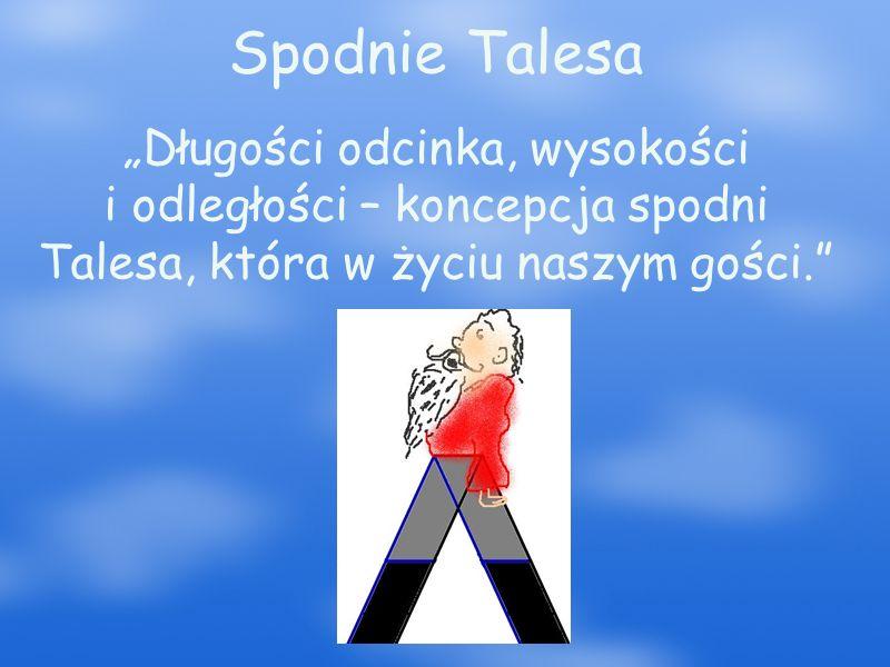 """Spodnie Talesa """"Długości odcinka, wysokości i odległości – koncepcja spodni Talesa, która w życiu naszym gości."""