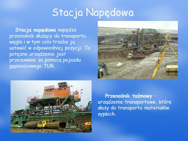 Stacja Napędowa Przenośnik taśmowy – urządzenie transportowe, które służy do transportu materiałów sypkich.