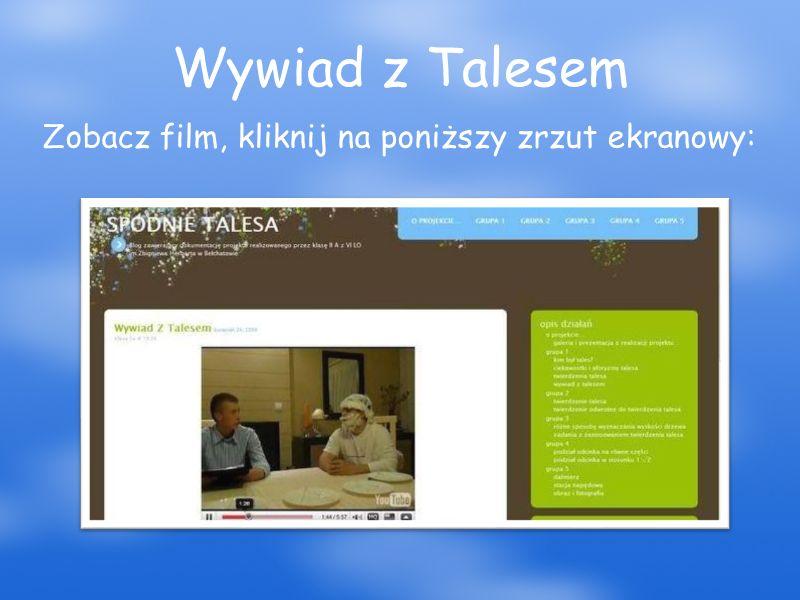 Wywiad z Talesem Zobacz film, kliknij na poniższy zrzut ekranowy: