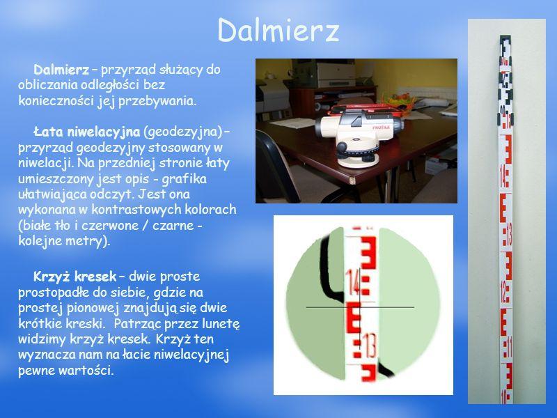 Dalmierz Dalmierz – przyrząd służący do obliczania odległości bez konieczności jej przebywania.